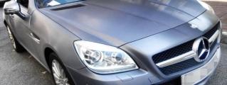 Brushed Steel Mercedes SLK by Impressive Wrap