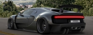 Rendering: Bugatti Chiron Wide Body