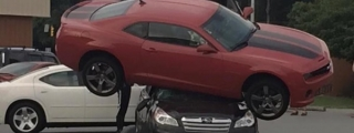 Camaro Thinks It's a Transformer, Tries to Hump a Subaru!
