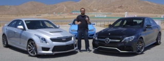 Cadillac ATS-V vs Mercedes C63 AMG - With a Bit of M3