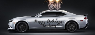 Chevy Celebrates Mustang's 50th Anniversary with a Camaro Cake!