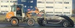 First Bugatti Chiron Crash Is an Undignified One