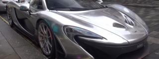 Chrome McLaren P1 Filmed in London