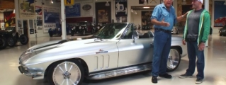 Jay Leno Tests Joe Rogan's Corvette Stingray Restomod