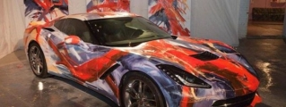 Corvette Stingray Art Car Painted Live at MOCAD