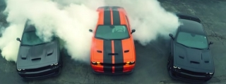Heavenly Hellcats: 3x Challenger Hellcat Burn Rubber