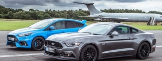 Drag Race: Ford Focus RS Takes on Mustang GT