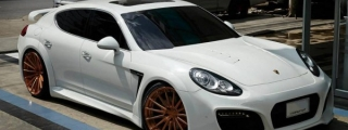 Techart Grand GT Looks Formidable on Rose Gold ADV1 Wheels