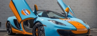Gulf-Liveried McLaren 12C Spider Spotted for Sale