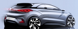 Hyundai i20 Coupe Previewed in Official Sketch
