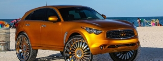 "Infiniti FX Goes Donk on 32"" Forgiatos"