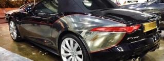 Jaguar F-Type Gets Custom Chrome Wrap