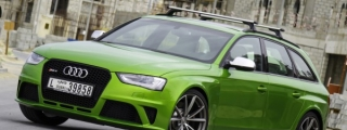 Photoshoot: Java Green Audi RS4 from Dubai