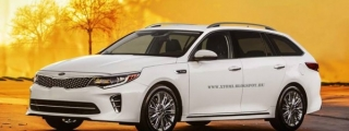 Kia Optima Wagon Rendered in Production Form
