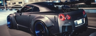 Liberty Walk Nissan GT-R Night Photoshoot by Marcel Lech