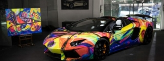 Lamborghini Aventador Art Car by Lamborghini Miami
