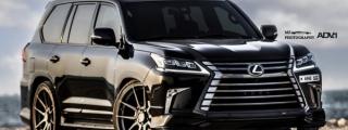 "Lexus LX570 on 26"" ADV1 Wheels"