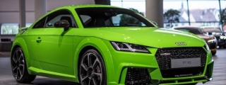 Lime Green Audi TT RS Looks So Fresh You Wanna Squeeze it!