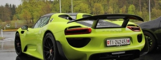Lime Green Porsche 918 Weissach Spotted at the 'Ring