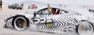 """Danger Close"" Donuts with Zebra-Themed Ferrari 458"