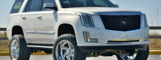 Check Out the World's First Lifted 2015 Cadillac Escalade!