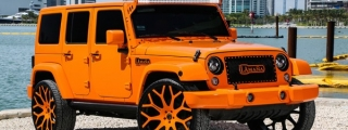 MC Customs Jeep Wrangler Is 50 Shades of Orange