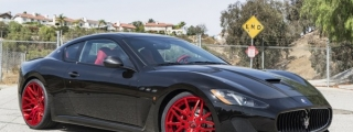 Maserati GranTurismo MC Stradale on Red Forgiatos