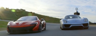 McLaren P1 vs Porsche 918 in Head to Head Battle
