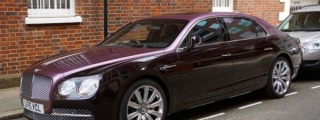 Two-Tone Magenta Bentley Flying Spur Spotted in London