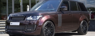 Maroon Kahn Design Range Rover Looks Classy
