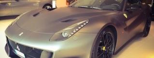 Matte Grey Ferrari F12tdf from Cannes