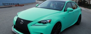 Matte Mint Lexus IS Looks Refreshing!