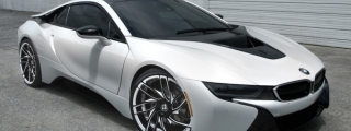 Gallery: Matte White BMW i8 on Savini Wheels