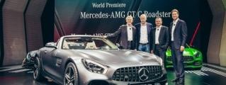 Watch Mercedes-AMG GT C Roadster Make its Paris Debut