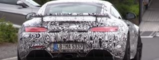 Mercedes AMG GT-R Spotted with Central Tailpipe, Brutal Sound
