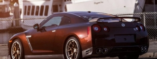 Midnight Opal Nissan GT-R with HRE Wheels