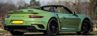 Sight to Behold: Olive Green Porsche 991 Turbo S Cab Mk II