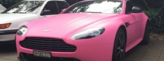Guy Turns Up at School in Pink Aston Martin Vantage