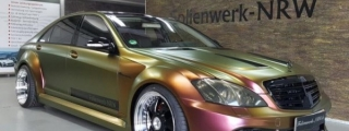 Prior Design Mercedes S-Class with Chameleon Wrap