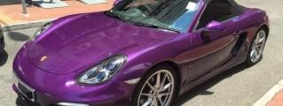 Midnight Purple Porsche Boxster by Impressive Wrap