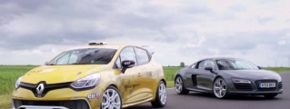 Super Car vs Track Car: Audi R8 Plus vs Renault Clio Cup