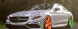 RENNtech Mercedes S63 Coupe with Weird GoldRush Wrap
