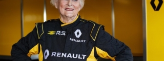 Rosemary Smith, 79, Test Drives Renault Formula One Car!
