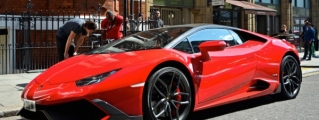 Juicy Red Mansory Huracan Sighted in London