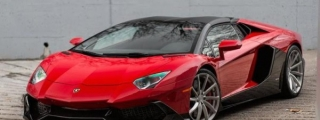 Eye Candy: Rosso Mars Aventador on PUR Wheels