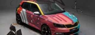 Skoda Fabia Art Car Unveiled