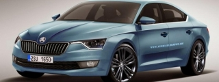Skoda Four-Door Coupe Rendered Based on VisionC
