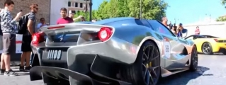 Silver Ferrari F12 TRS Caught on Film