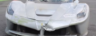 Silver LaFerrari Crashes During Ferrari Cavalcade