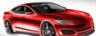 Tesla Model S by Saleen Previewed in Official Sketches